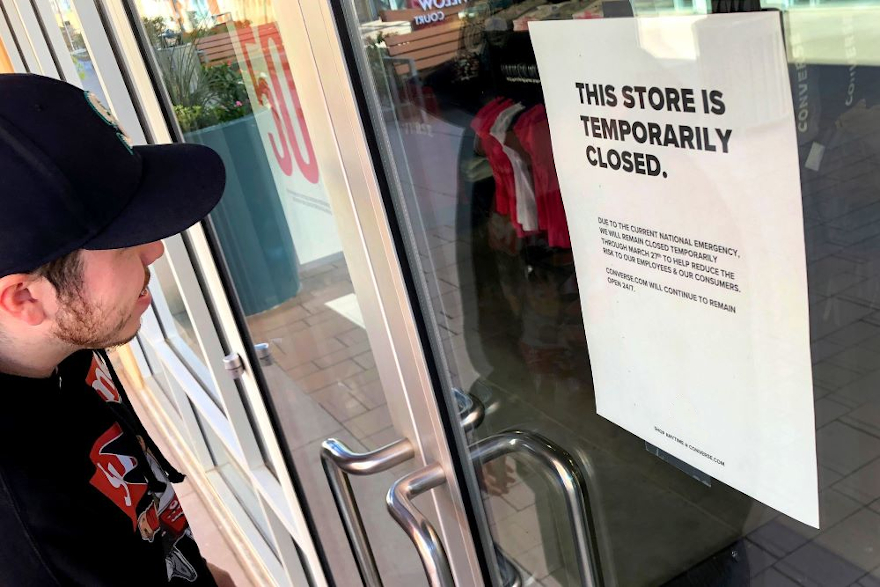 Retailers closed due to coronavirus